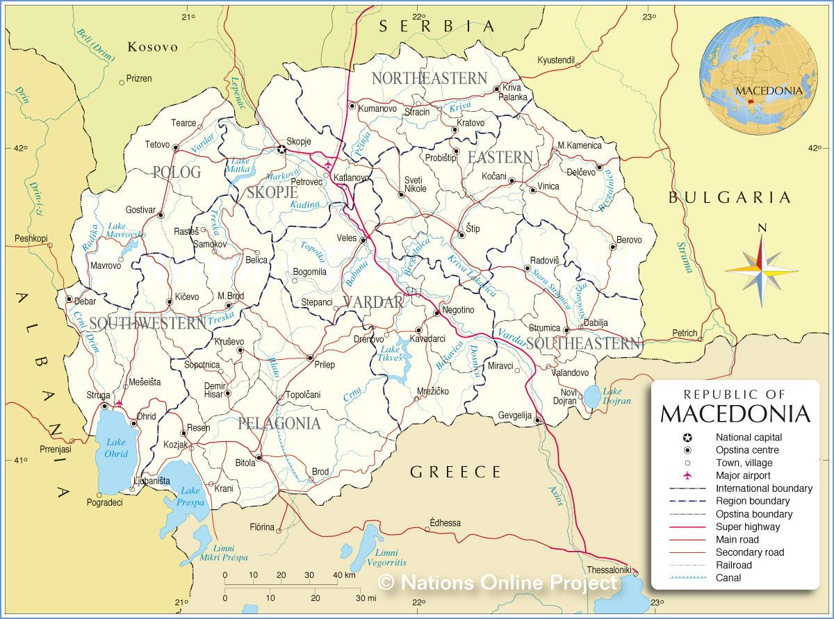 Где находиться македония