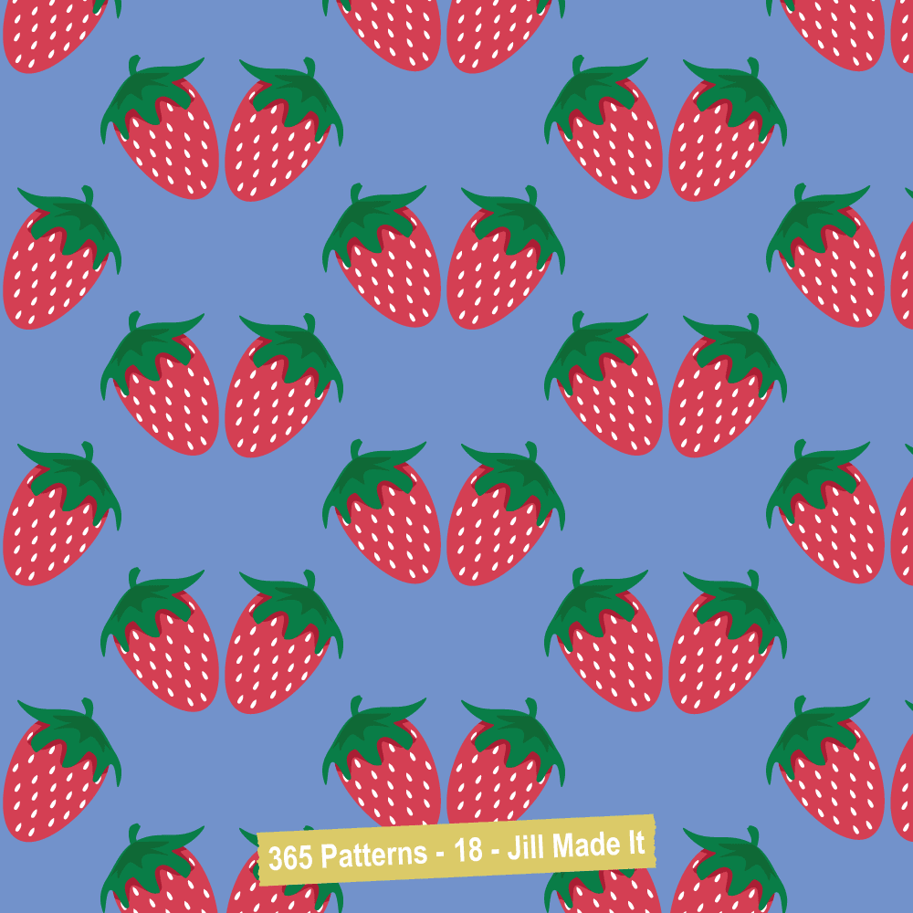 365 Patterns:  Strawberries