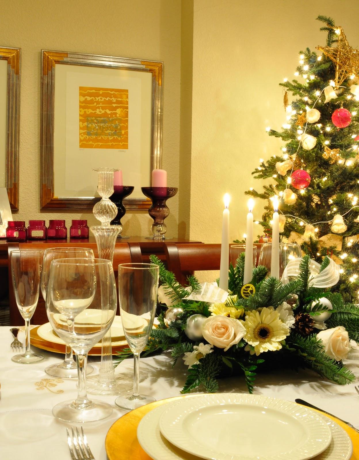 C mo preparar la mesa en las cenas de navidad no soy - Como preparar la mesa de navidad ...