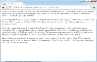 Script Anti Copas Artikel Blog, Web, Wordpress dan Blogspot Tidak Bisa Klik Kanan
