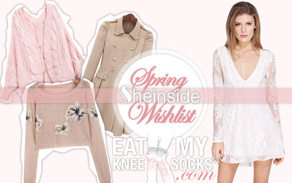 Eat My Knee Socks intro picture for the SheInside spring fashion wishlist of 2015.