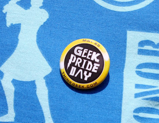 Geek Pride Day pin from ThinkGeek.com