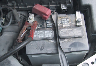 battery, clamp-on battery, car, jump start