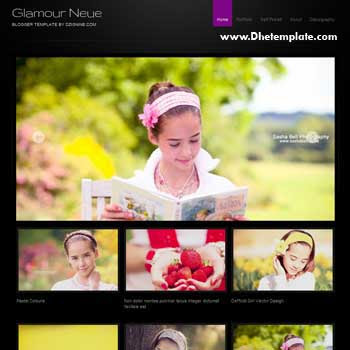 Glamour Neue blogger template. photography blogger template