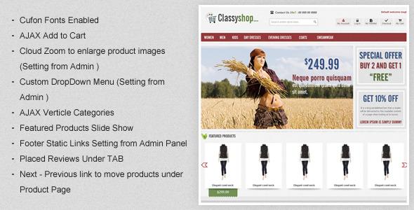 eCommerce-ClassiShop-Magento-Template