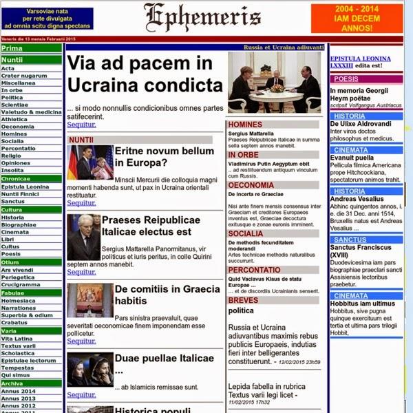 Noticias en latín desde Varsovia