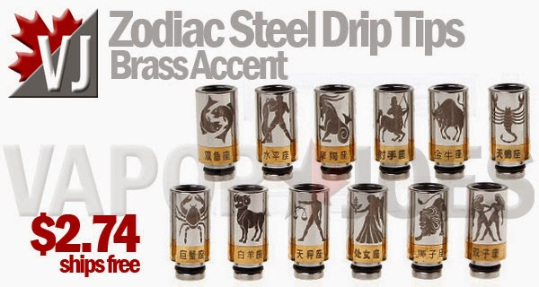 Western Zodiac Drip Tips - Stainless Steel with Brass Accent
