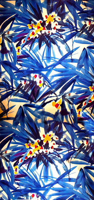 Alexander Henry beautiful blue print