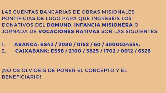 Números de cuentas OMP LUGO