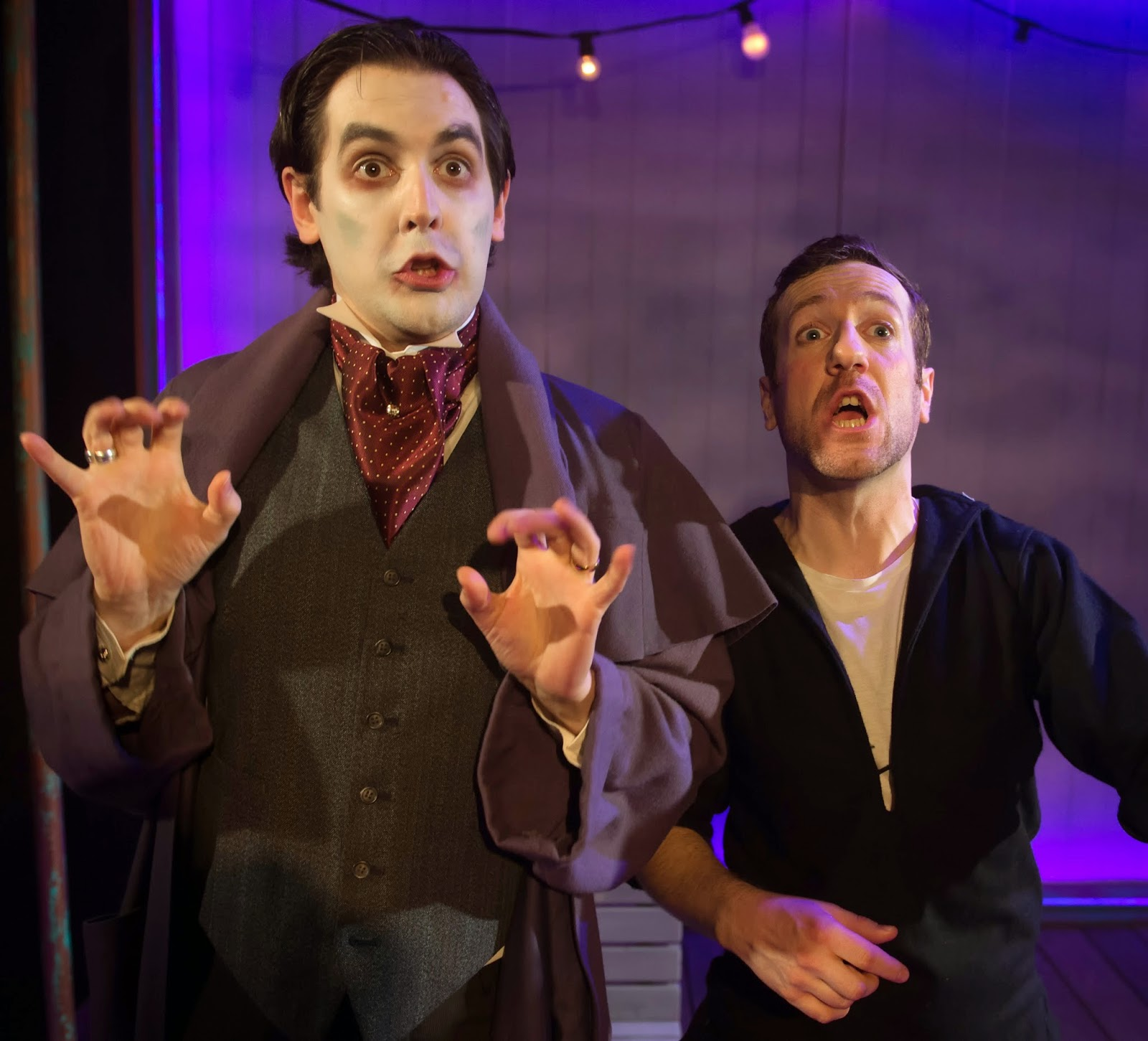 Ruddigore - Charles Court Opera - Sir Despard (John Savournin) and Dick Dauntless (Philip Lee) Photo Bill Knight