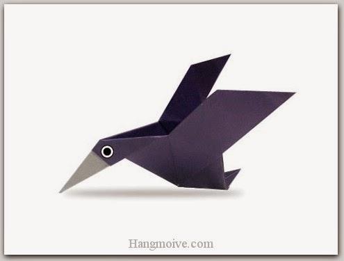 Cách gấp, xếp con vịt trời bằng giấy origami - Video hướng dẫn xếp hình Động vật - How to fold a con vịt trời