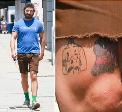 Actor Shia LaBeouf Gets A Picture Of Tupac Tattooed