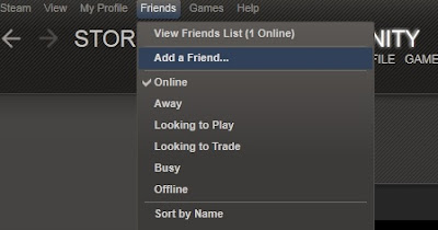 step 2 after searching for your friend s steam name id click on the add as friend button