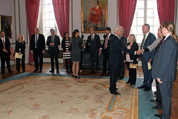 King Carl Gustaf And Princess Victoria Attended A Meeting At The Royal Palace