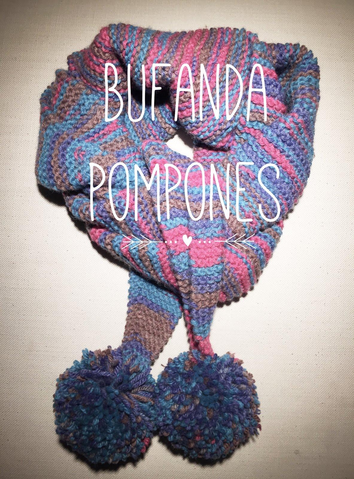 Kubaloo ...tu universo creativo ...: #24/2017 - Bufanda Pompones ...