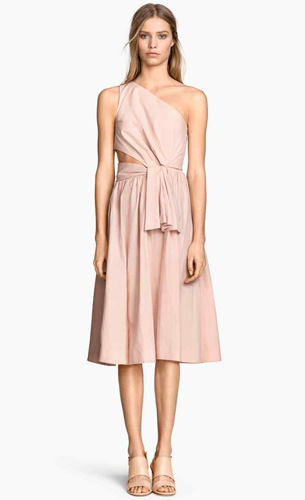 vestido asimétrico H&M