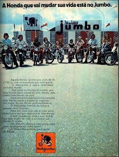 propaganda MotoJumbo - Supermercado Pão de Açucar Jumbo - 1973
