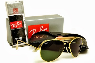 ray ban quality md9u  Rayban Outdoorsman  Frame Gold  Lens Dark Green G-15