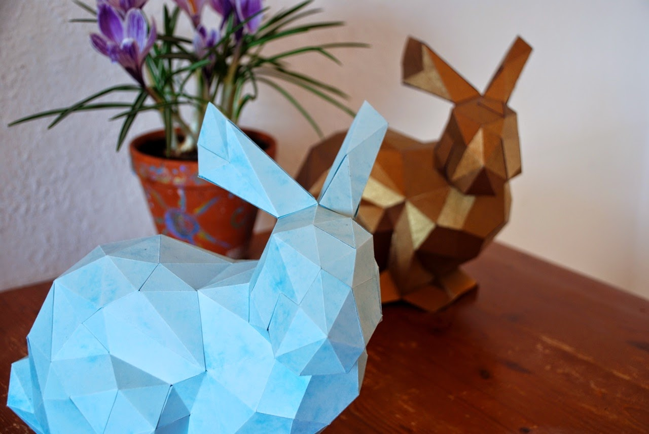 DIY, Do It Yourself Osterhase aus Papier, Osterdekoration