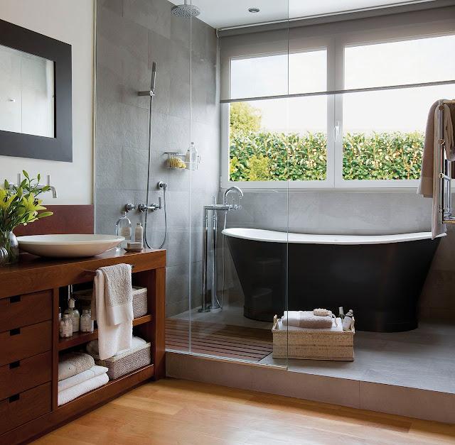 Decotips ducha y ba era en menos de 10 m virlova style for Banos pequenos con ducha y banera