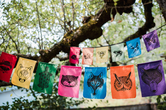 spirit animal peace flags