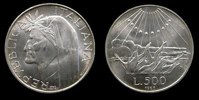 numismatica & filatelica,,,  500lireDante