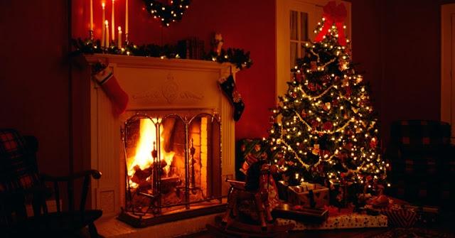 Pinheirinho de Natal e árvore decorada