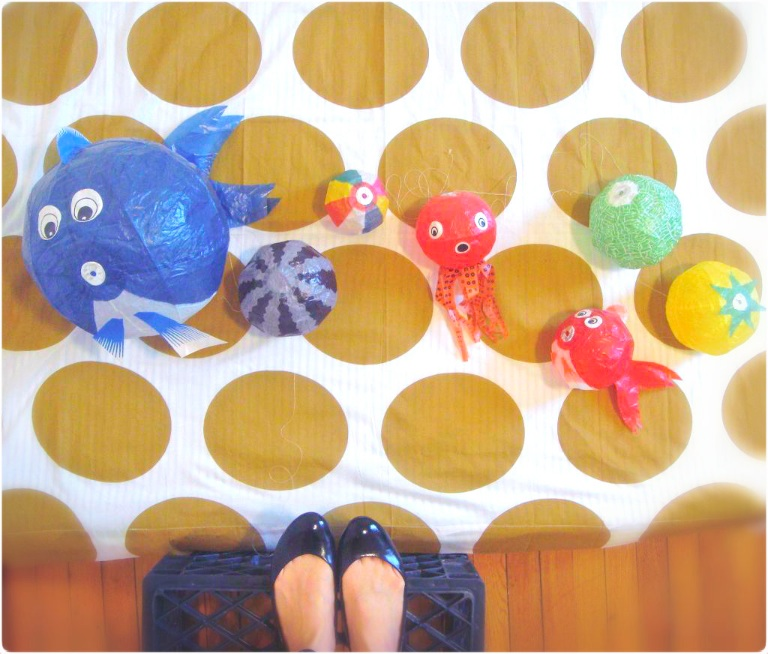 Japanese style fish decorations