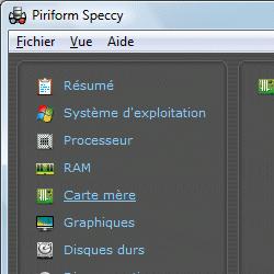 capture d'écran de Speccy