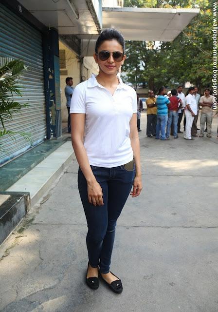 Rakul Preet Singh pictures at Hyderabad TFI Swachh Bharat