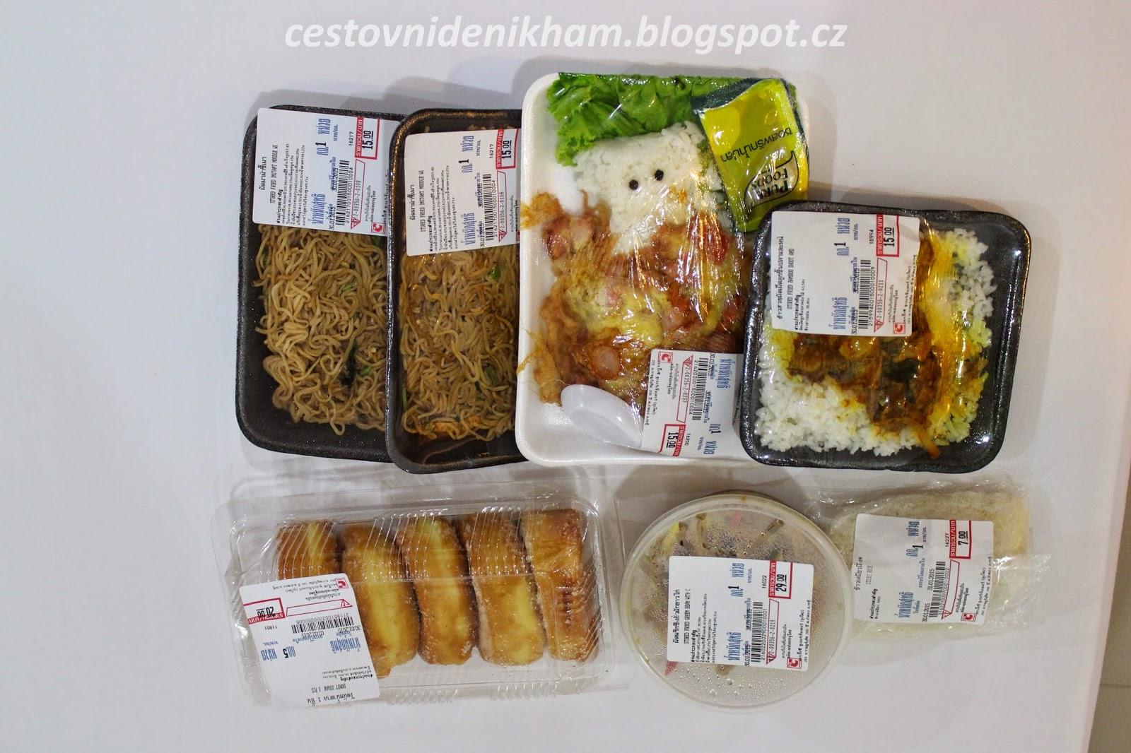 jídlo ze supermarketu Big C + méďa z rýže// local food from grocery shop Big C