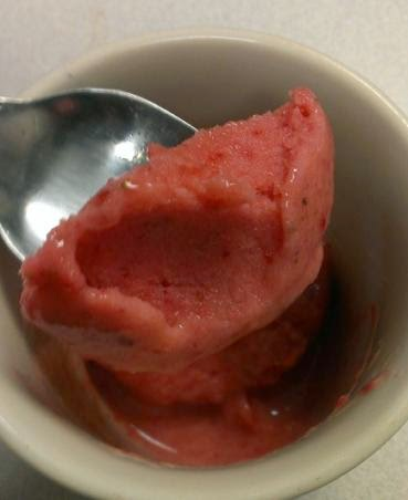 strawberry lemonade sorbet