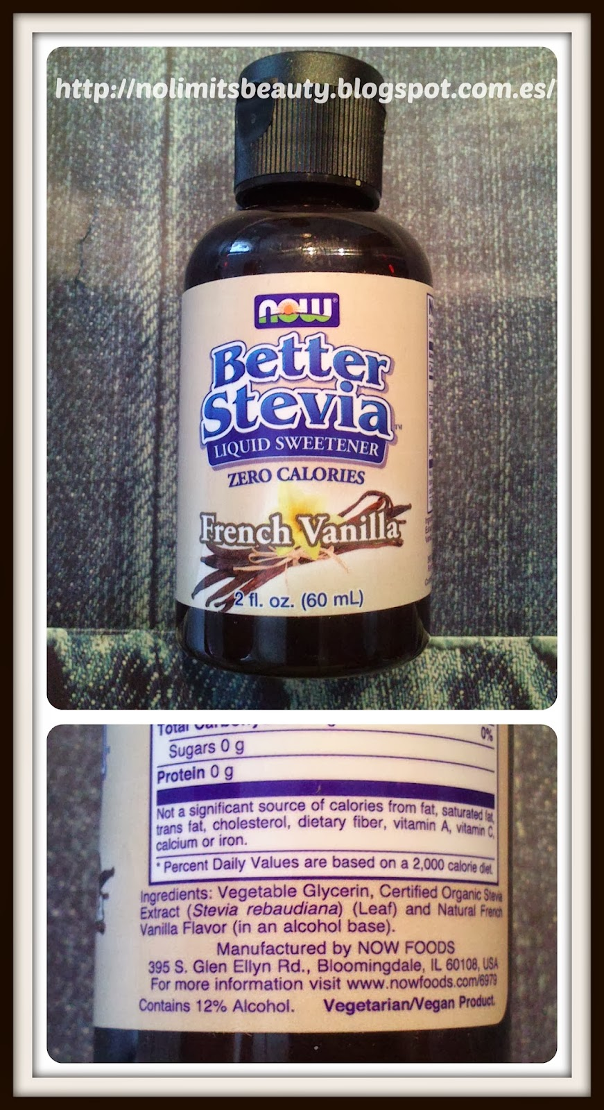 iHerb - Stevia French Vanilla - Now Foods