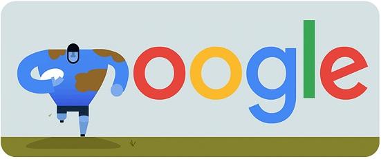 Rugby World Cup 2015 Menjadi Tema Google Doodle Setelah Hari Nasional Chile Dan M.F Husain Pelukis India
