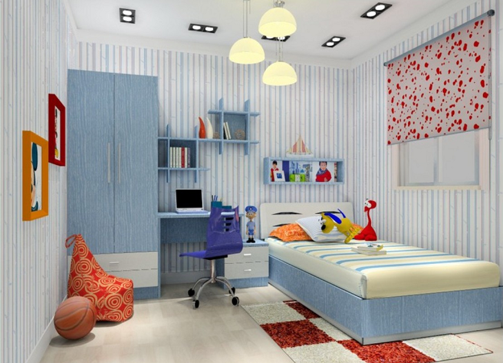 Minimalist bed design for kids Image Source Via www.3dhouse777.com
