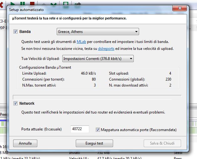 Mondo informatico aprire porte router per utorrent 3 0 in for Porte utorrent