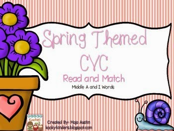 https://www.teacherspayteachers.com/Product/Spring-Themed-CVC-Read-and-MatchMiddle-A-and-I-Words-1771678