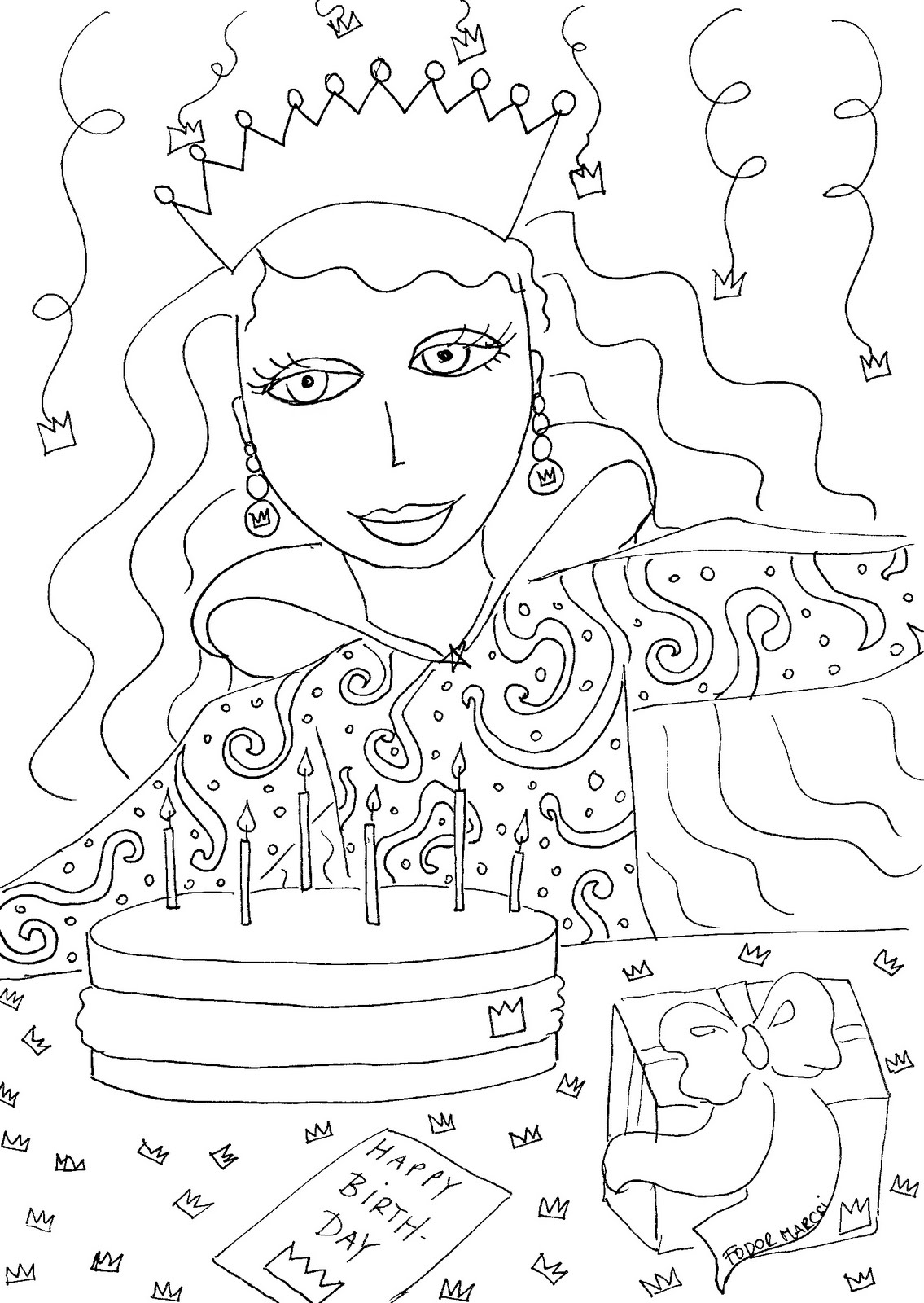 Happy Birthsday coloring on Pinterest Coloring Pages