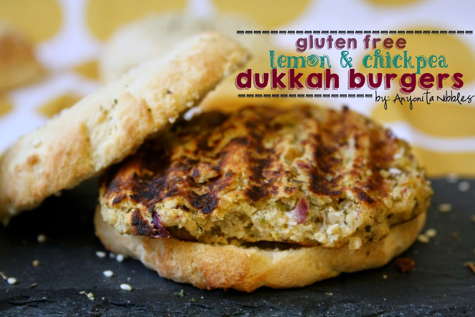 Vegetarian burgers made with chickpeas and quinoa served on the best homemade gluten free burger buns.