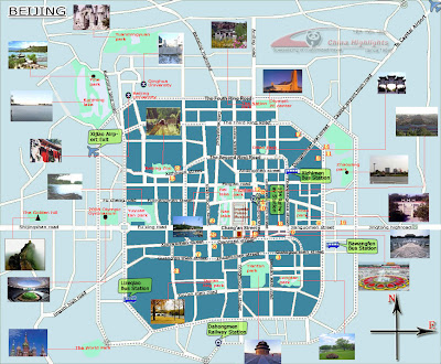 Tourist map of Beijing