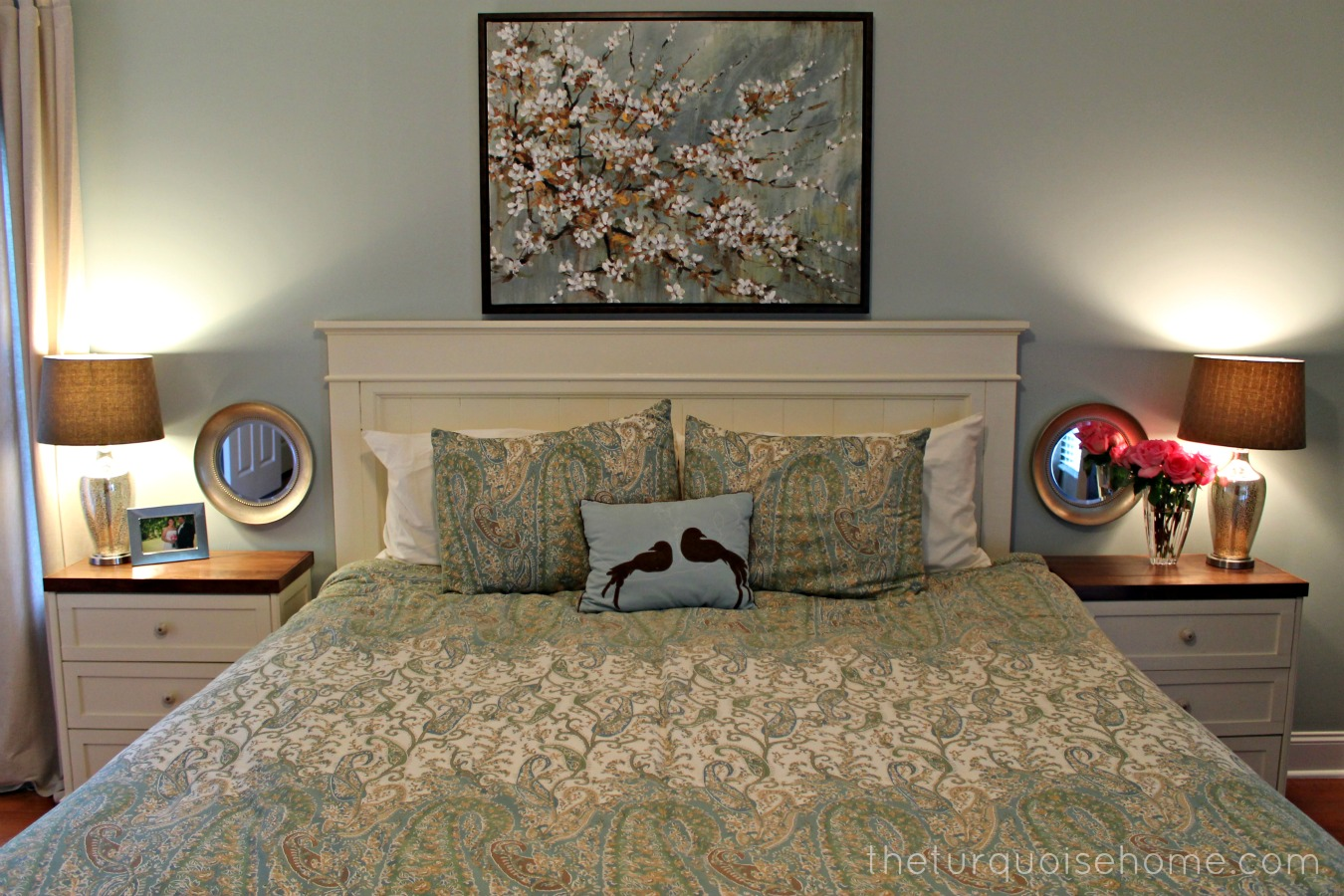 Master Bedroom Headboard Ideas Delectable Diy Headboard Master Bedroom Update  The Turquoise Home Design Inspiration
