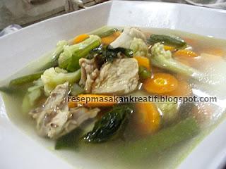 Resep dan Cara Membuat Sayur Sop Ayam Bening Enak
