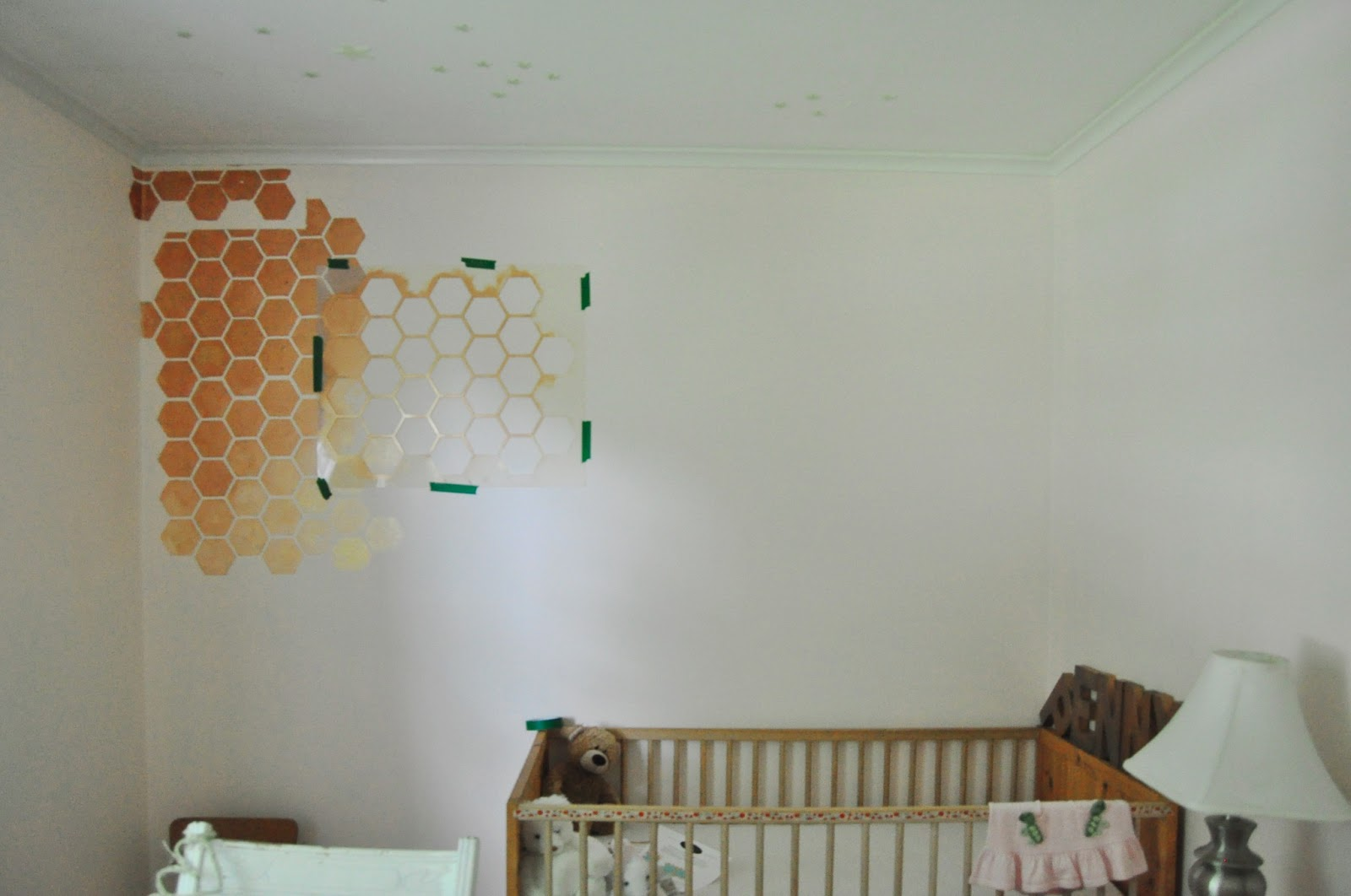 Honeycomb Wall Stencil Diy For Nursery