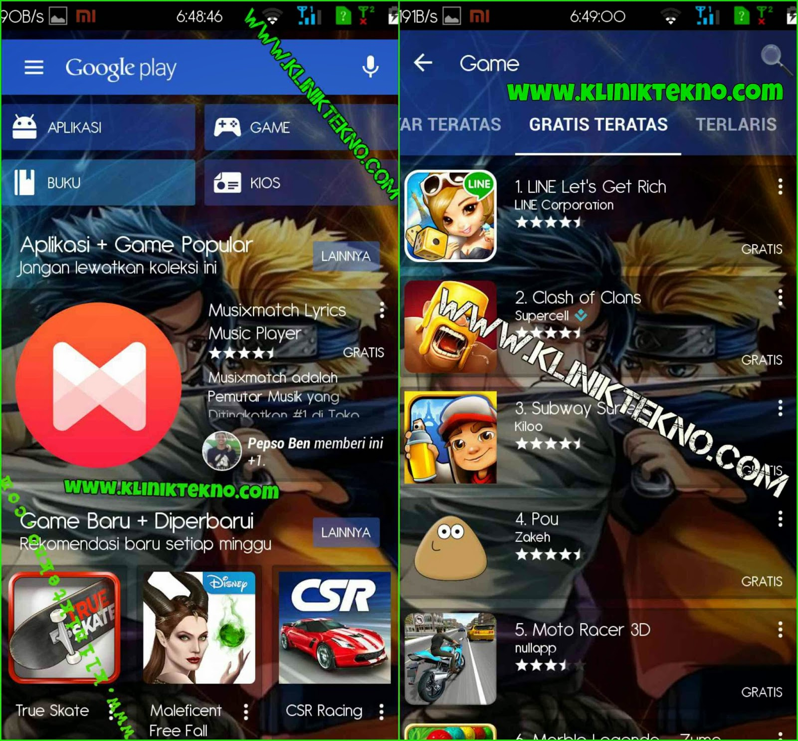 Play Store, Google Translate, Calculator Apk Android Transparan