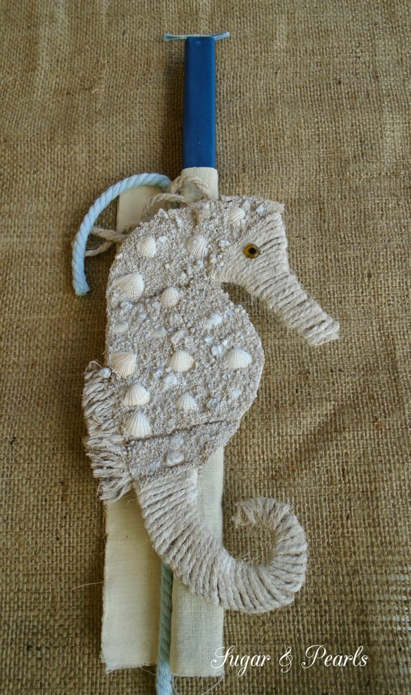 Πασχαλινή λαμπάδα ιππόκαμπος