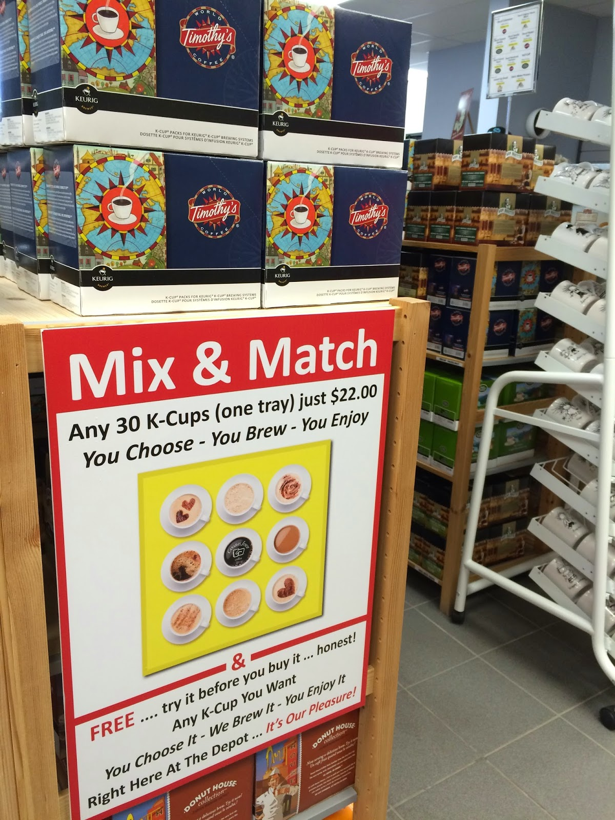 Mix and Match policy for K Cup Store Canada's Finest Coffee