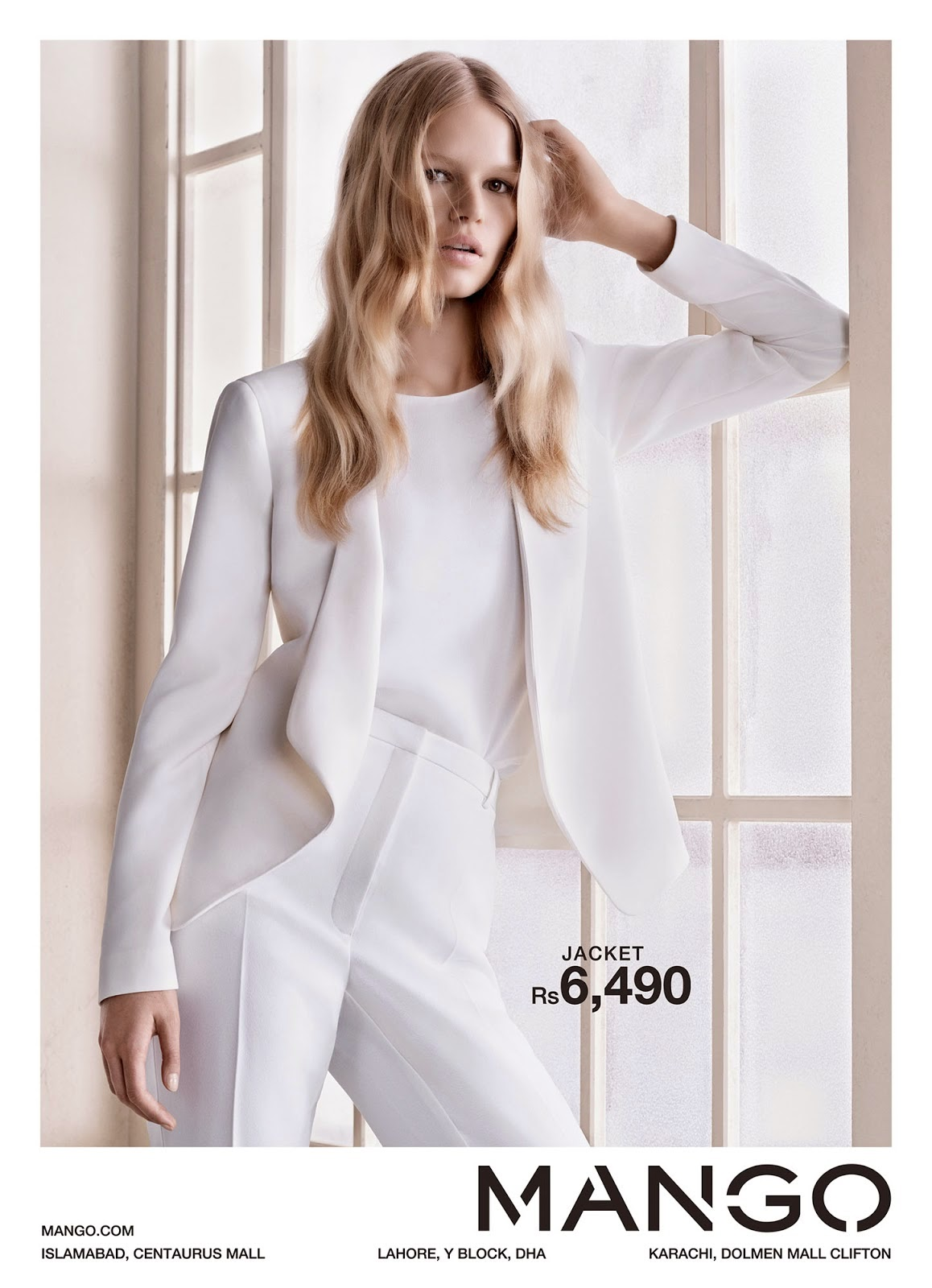 mango structured white jacket