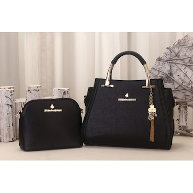 JESSICA MINKOFF BAG (2 IN 1 SET) - BLACK