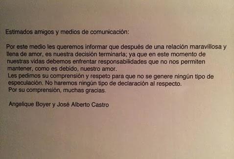 """Angelique Boyer y """"El Guero"""" Castro terminan su relación"""