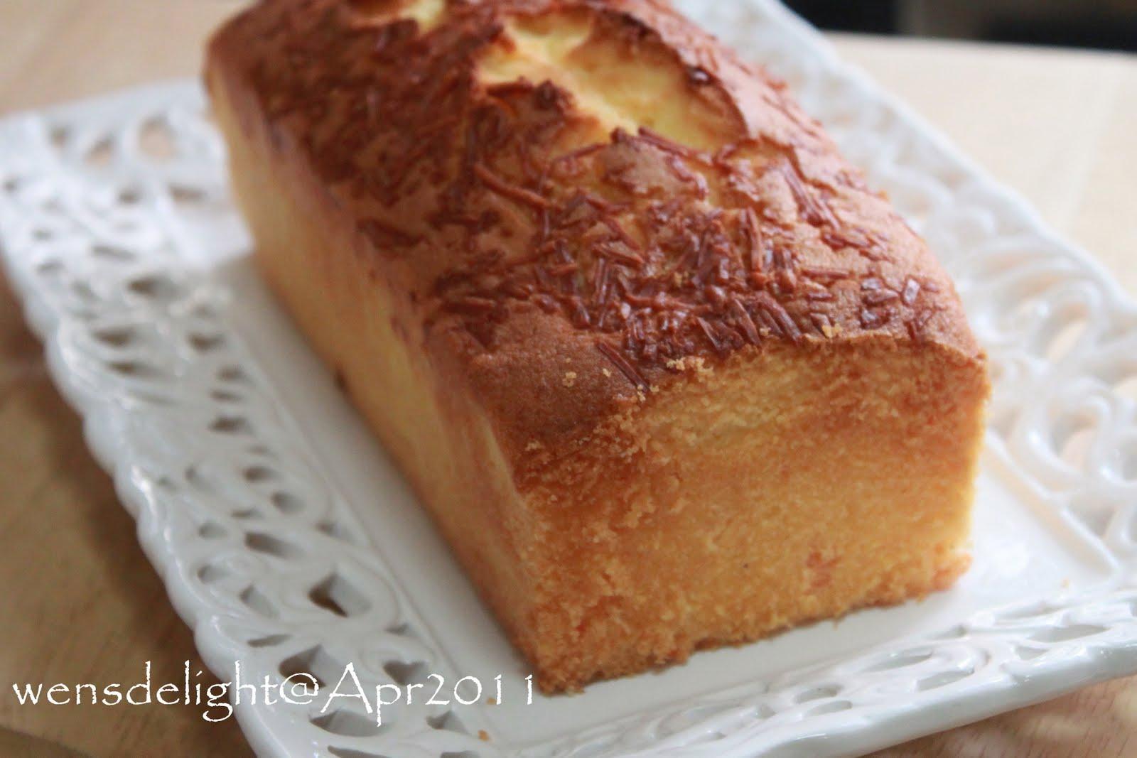 Alex Goh Butter Cake Recipe
